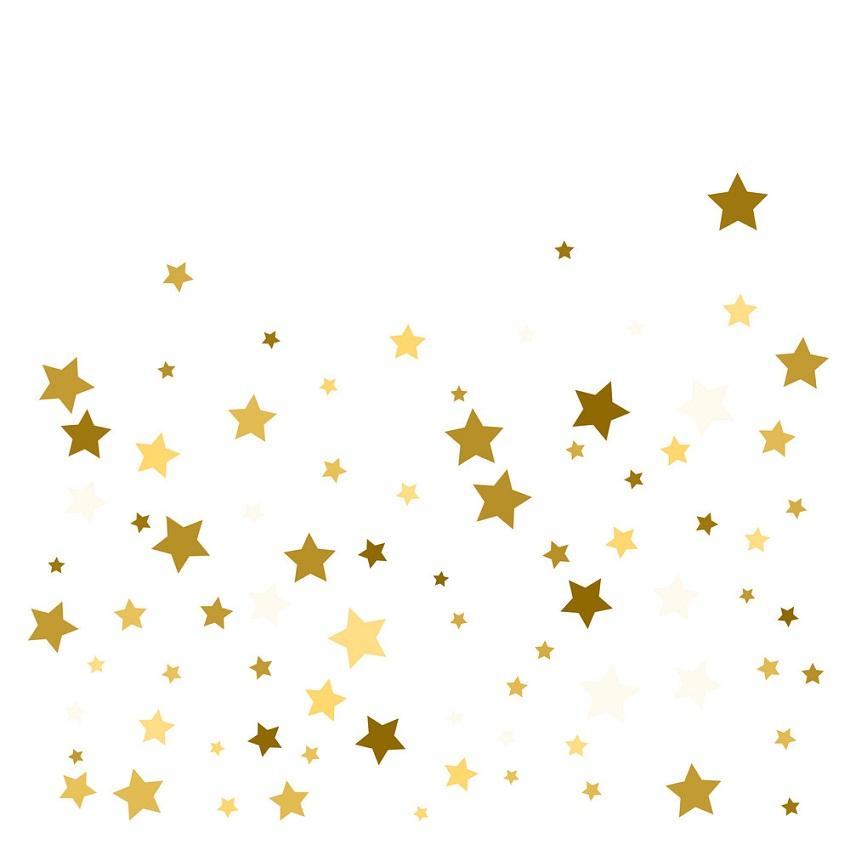 golden stars confetti