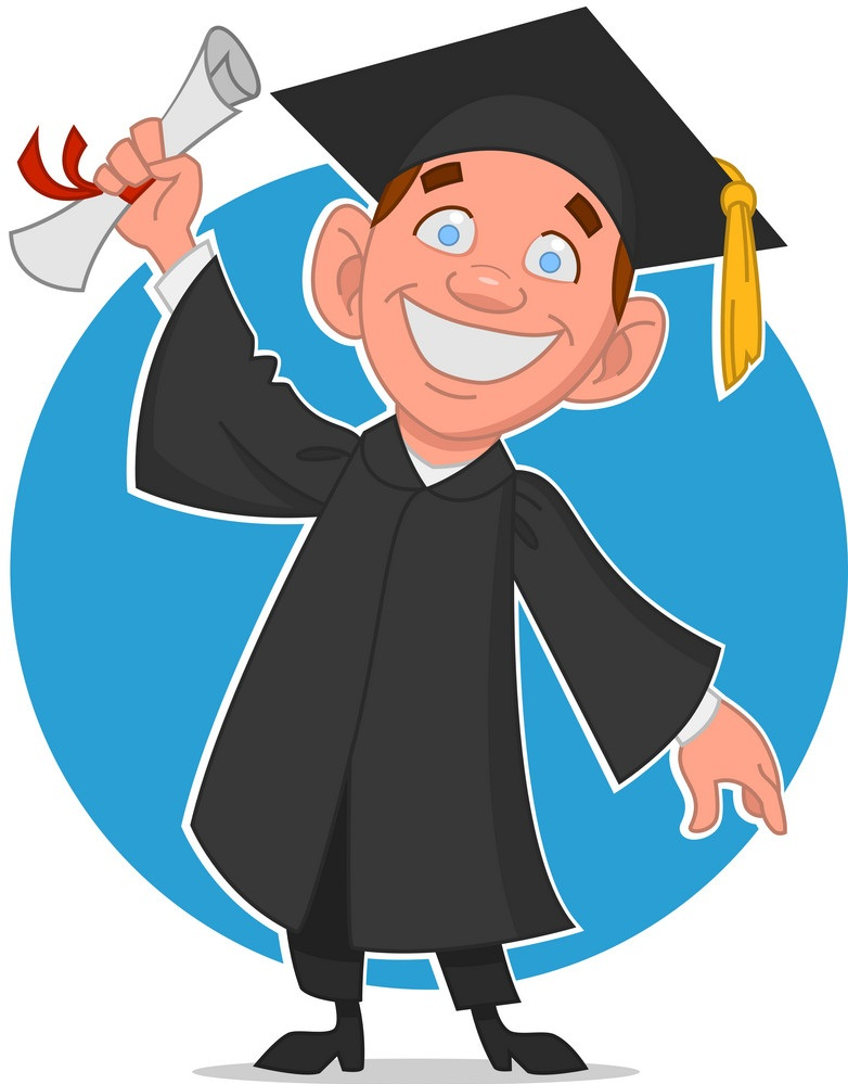 graduate guy with diploma