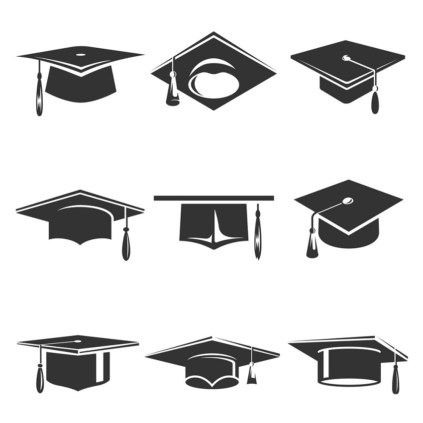 graduation caps icons