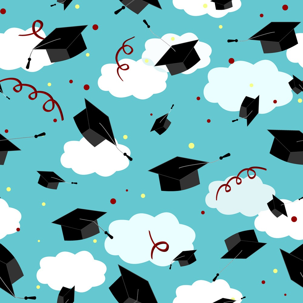 graduates hats in the sky