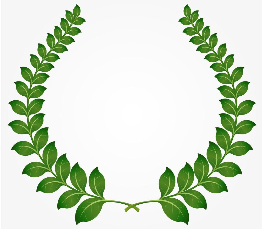 green laurel wreath 1