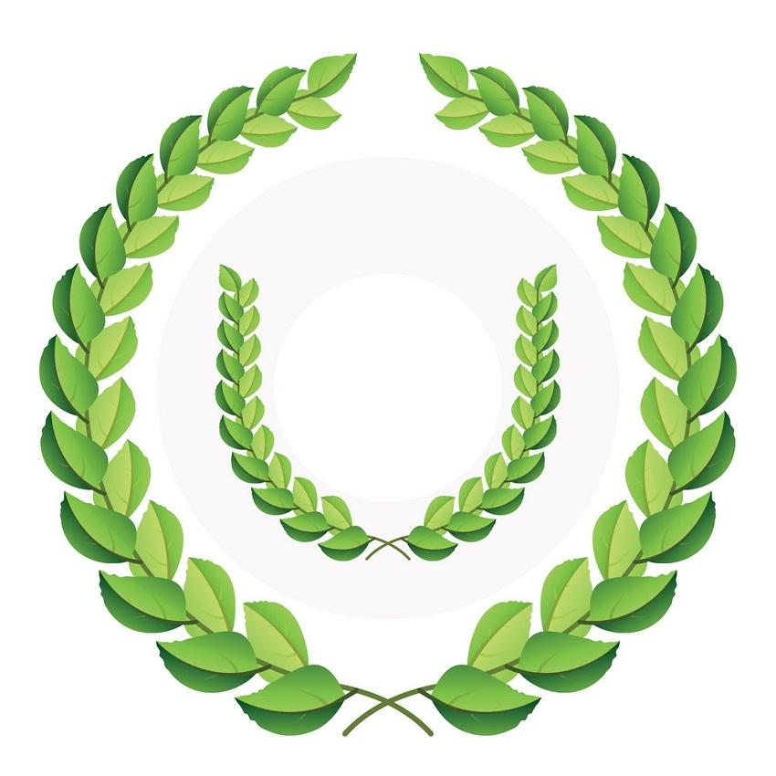 green laurel wreath 2