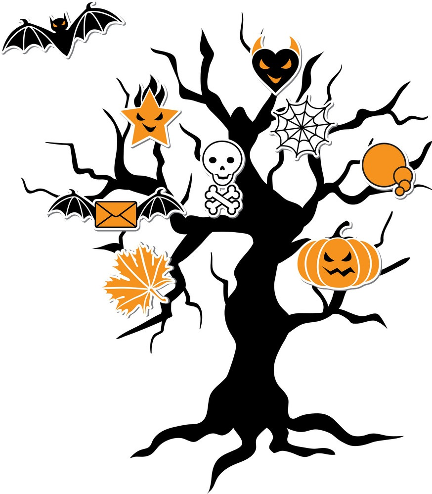 halloween icon tree