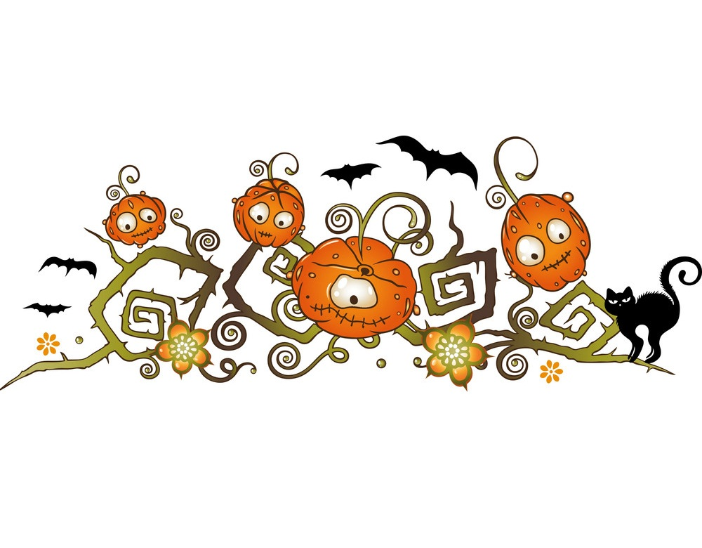 halloween pumpkin border