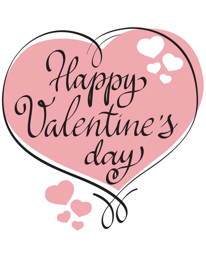 Happy Valentine Day card design with heart shaped frame