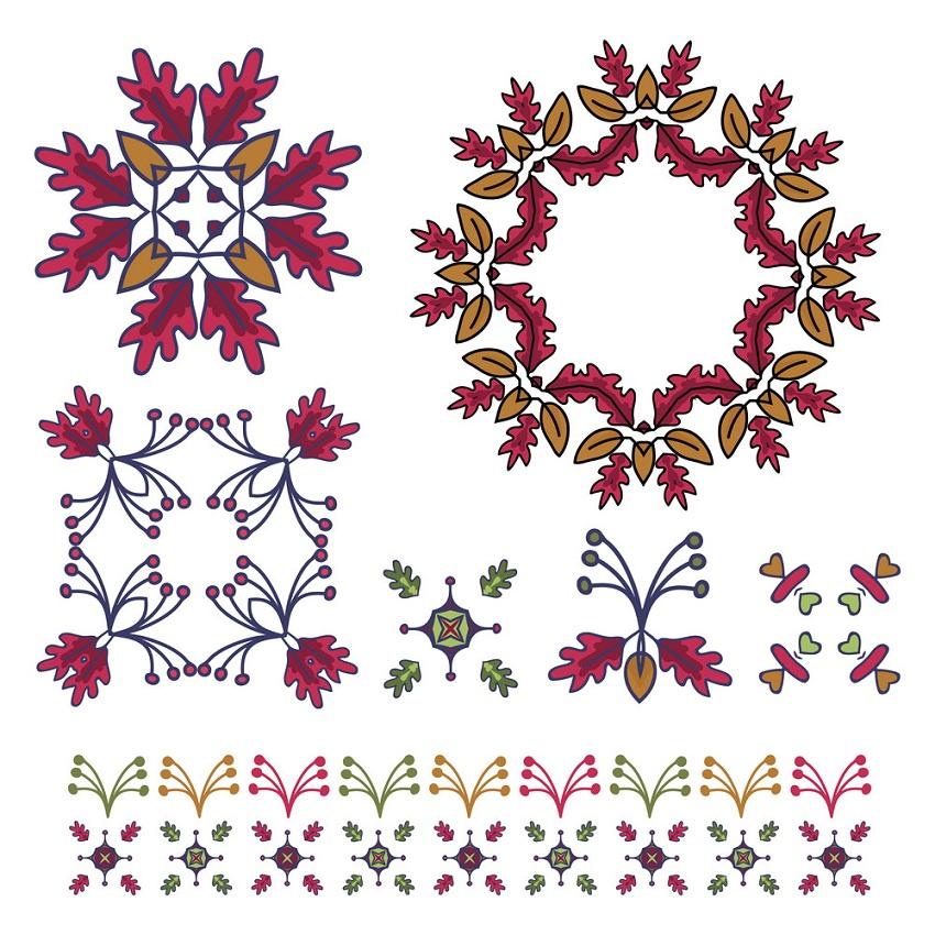 hand drawn rustic fall wreath