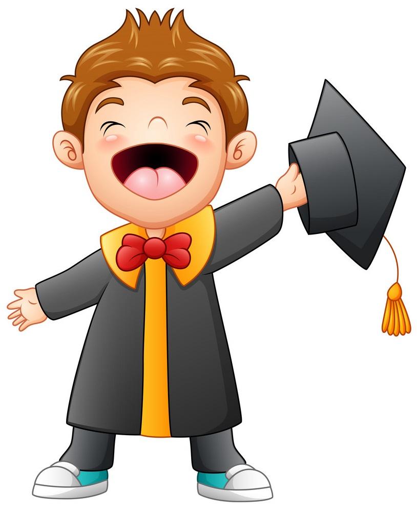 happy graduated boy