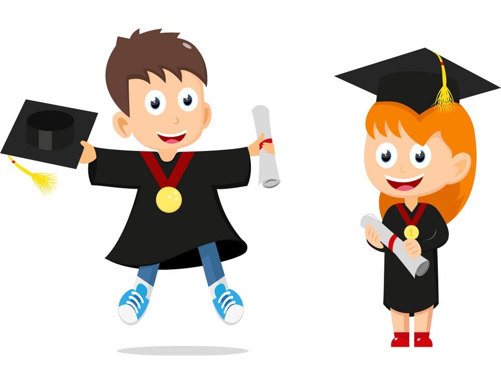 happy graduates kids