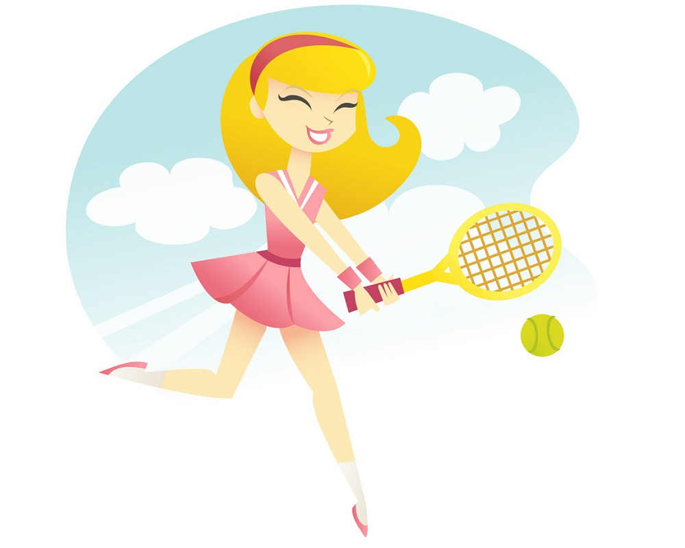 Happy Tennis Girl