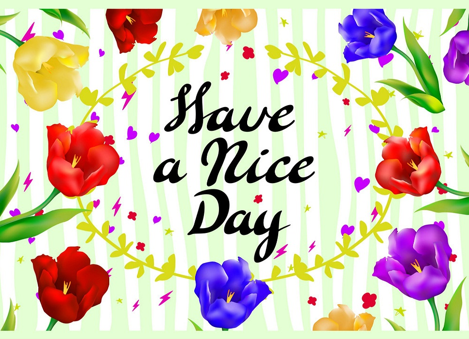 have a nice day tulips card