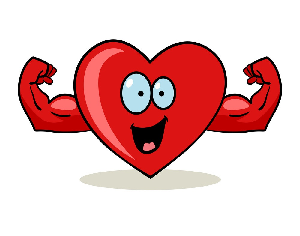 heart with muscular hands