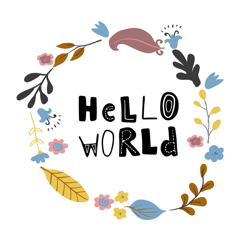 hello world wreath