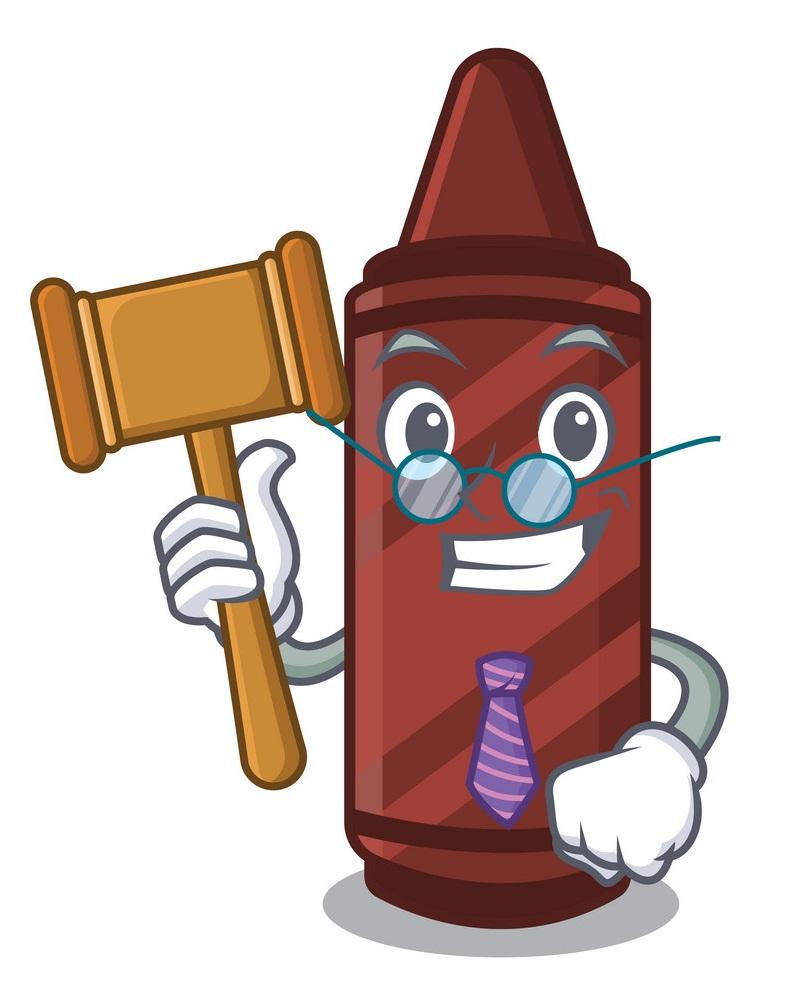 judge brown crayon