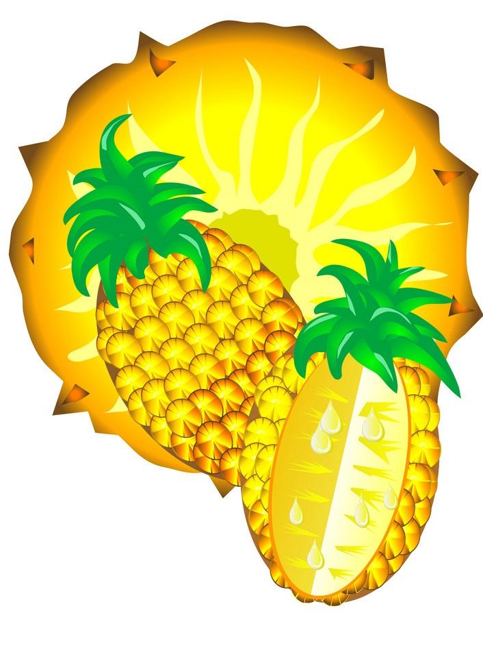 juicy pineapple slices
