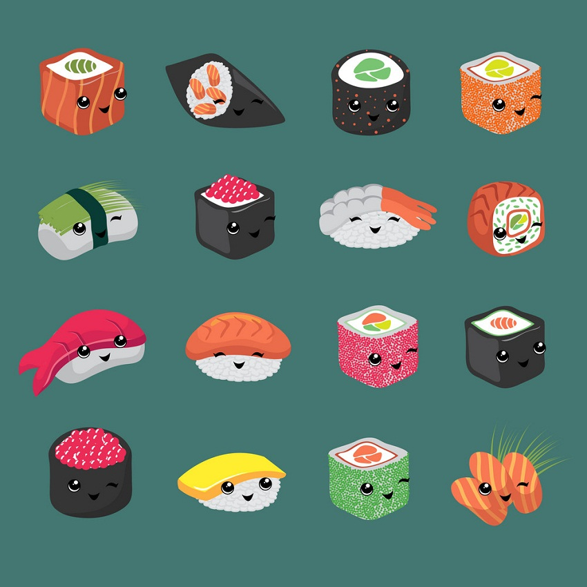 Sushi Cartoon Clipart