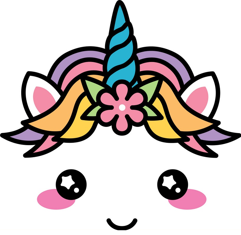 kawaii unicorn face