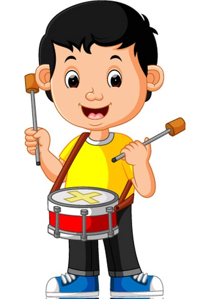 kid plays drum