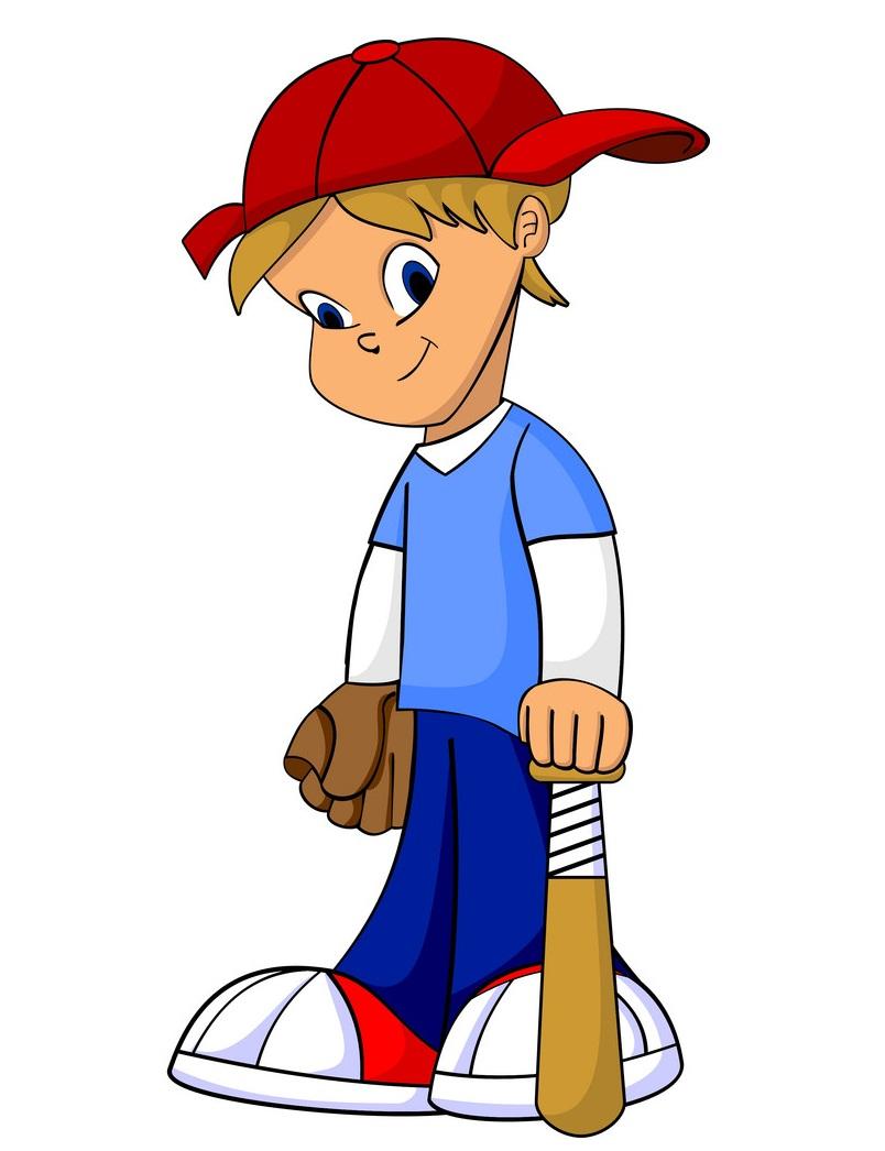 kid with baseball bat