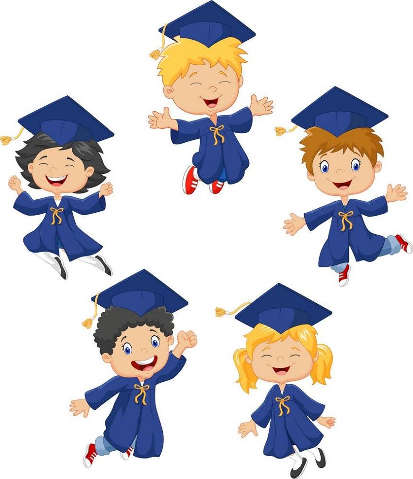 kids celebrate their graduation