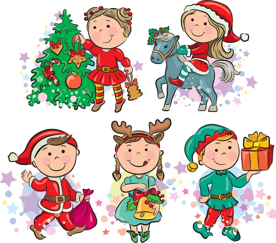 kids in christmas
