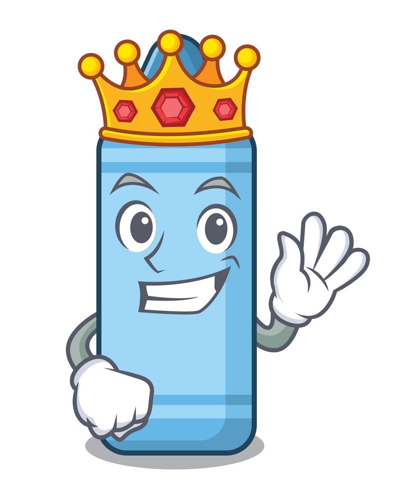 king blue crayon