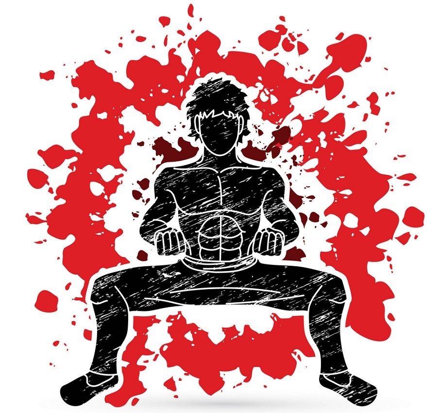 Fighting Pose Clipart