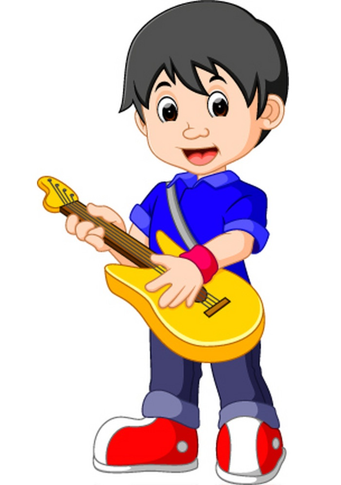 little boy with his guitar