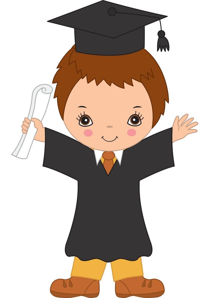 little boy graduating