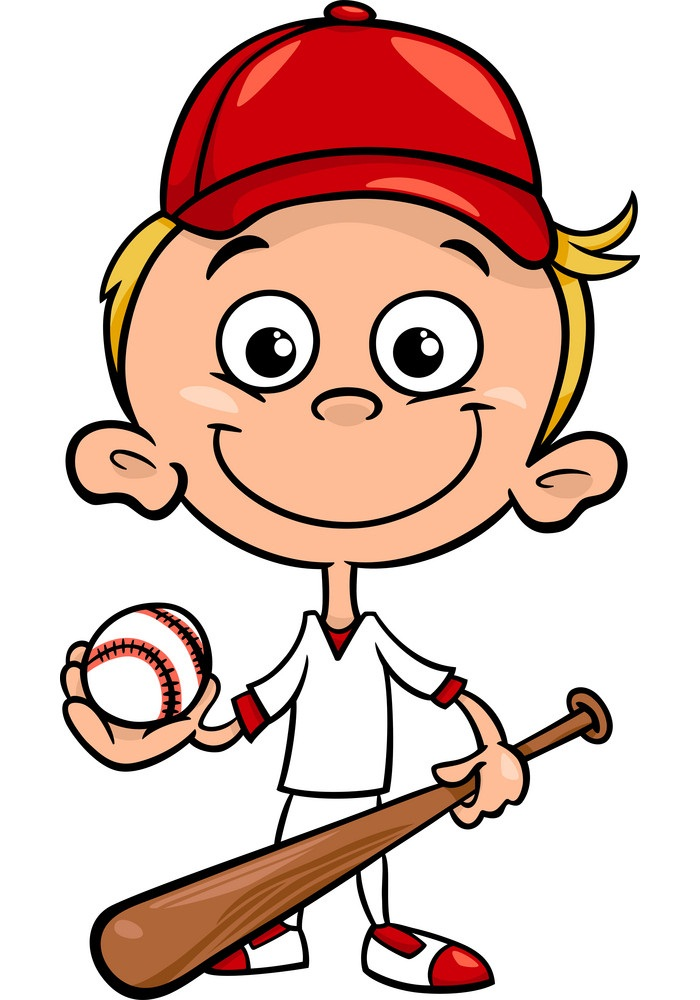 little boy with ball and bat