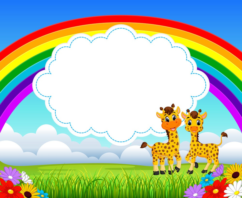 nature rainbow with cloud board blank