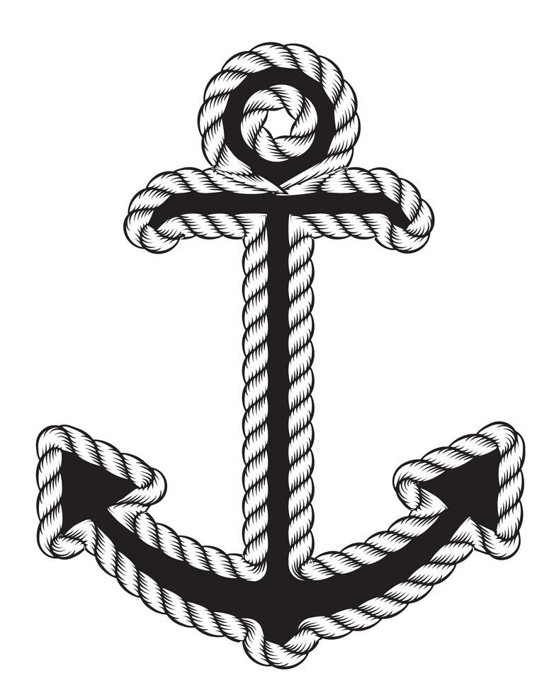 nautical anchor logo