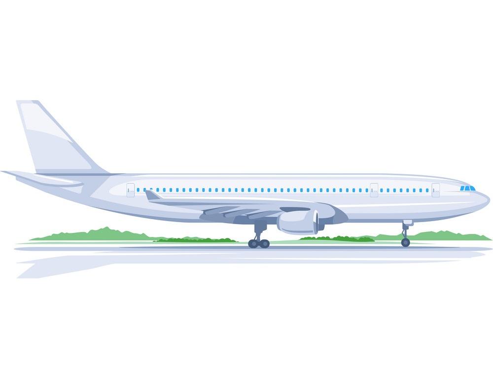 one airplane on ground