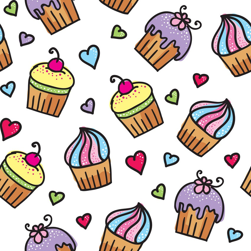 pattern of cupcakes