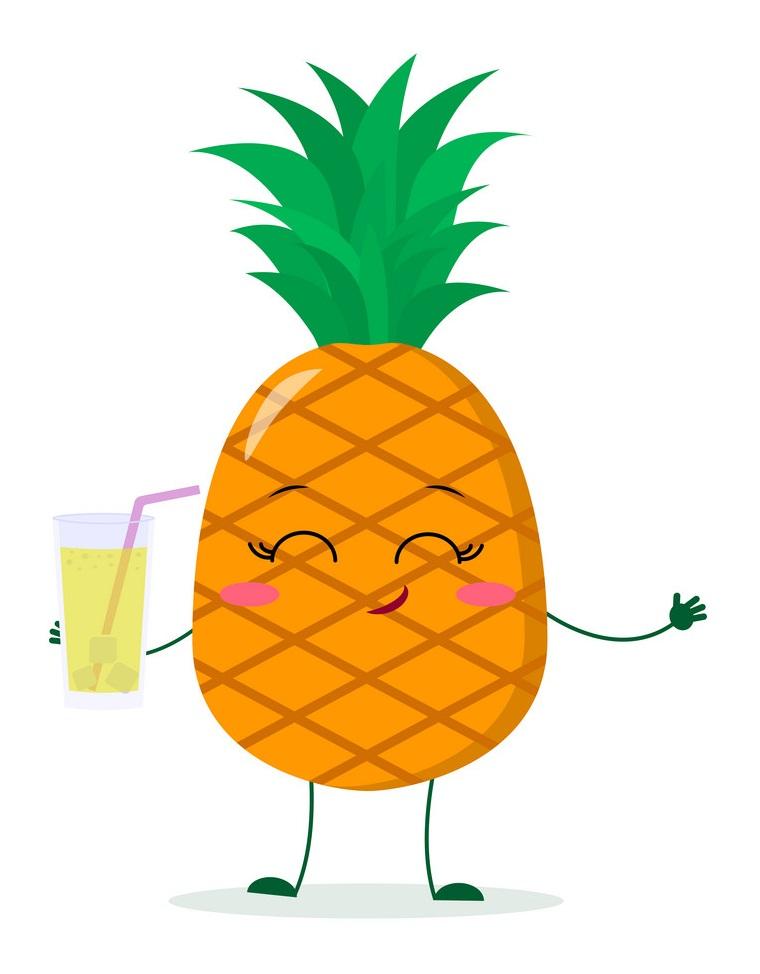 pineapple drinking pineapple juice