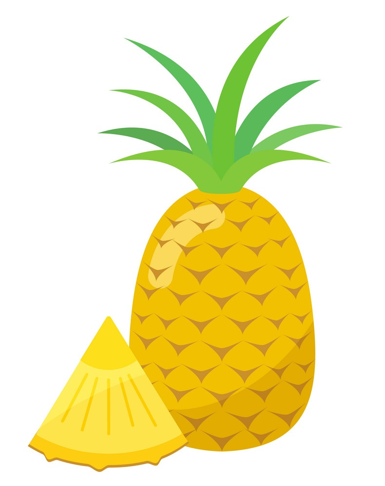 pineapple with a small piece