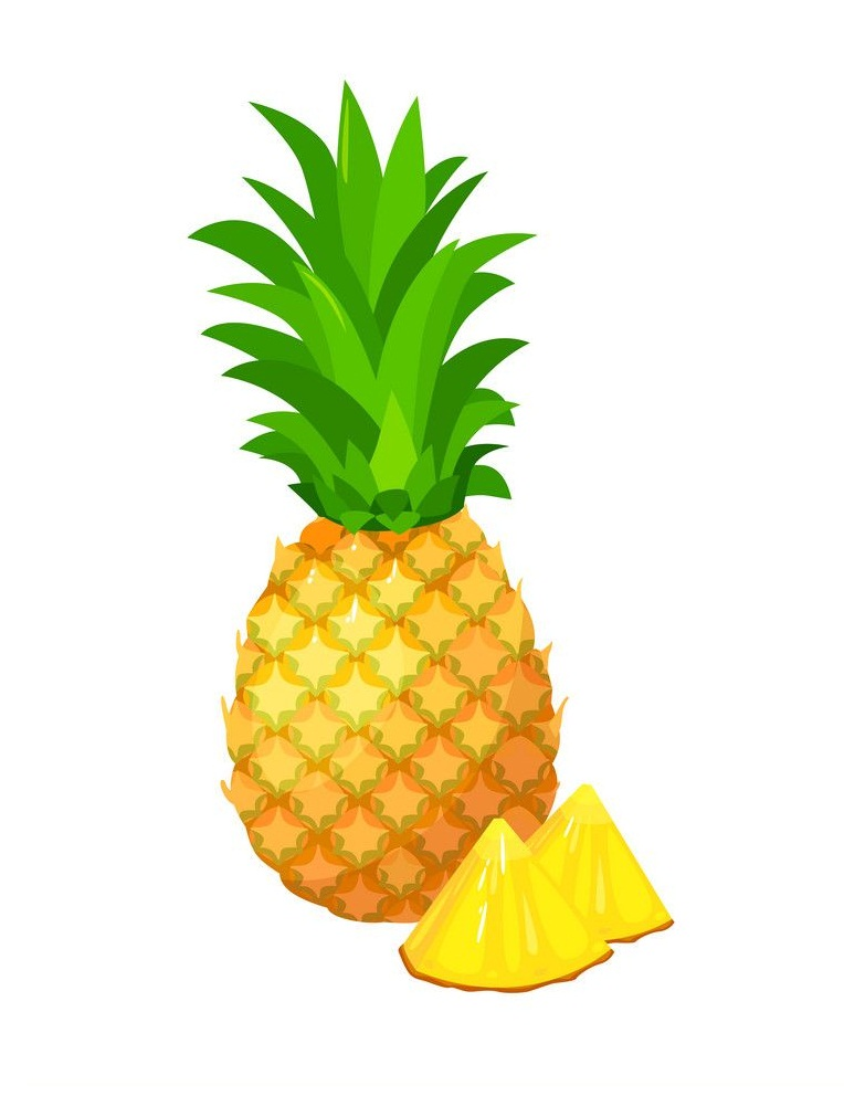 pineapple with pineapple pieces