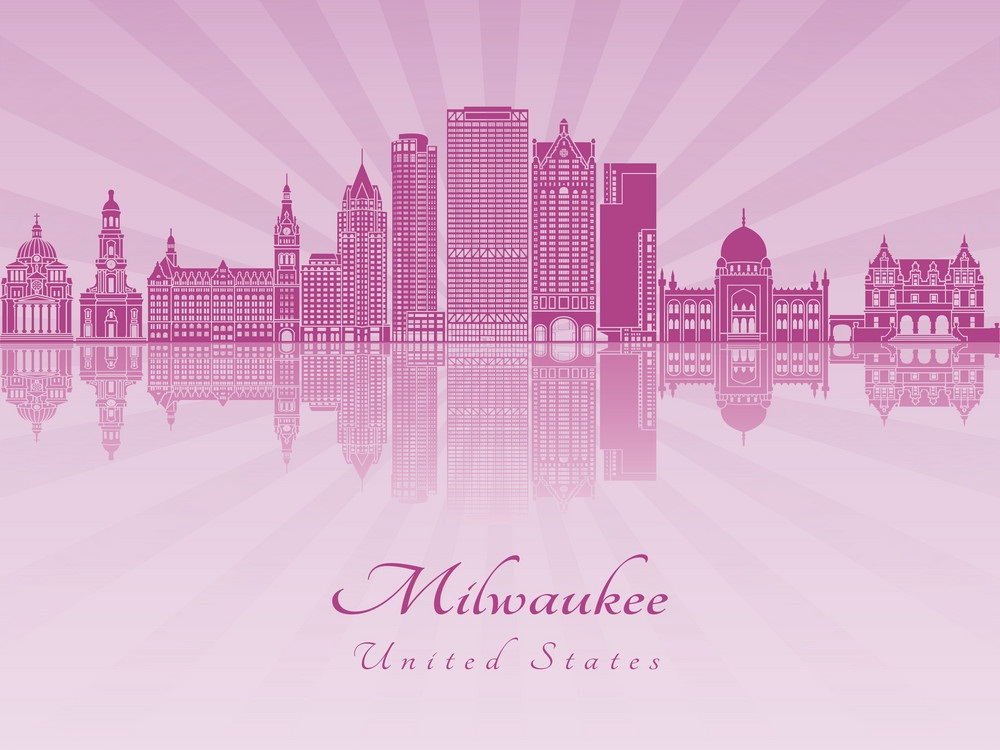 pink milwaukee skyline