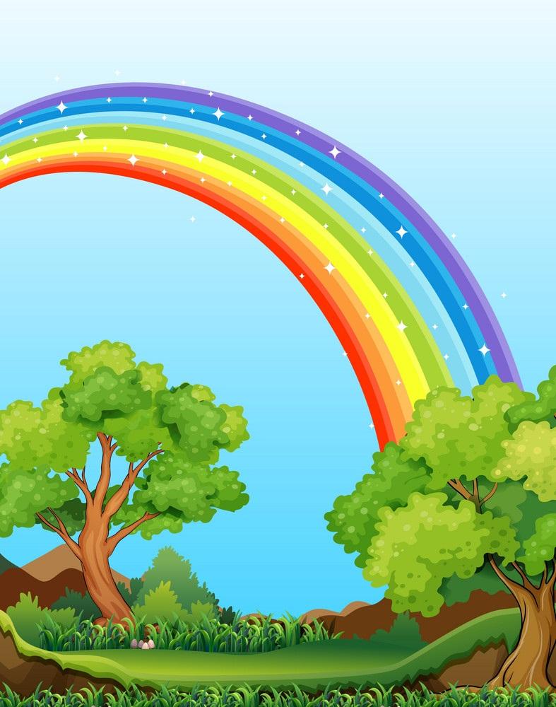 rainbow and field
