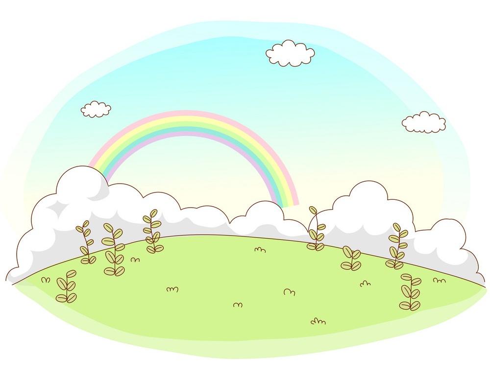 rainbow sky landscape