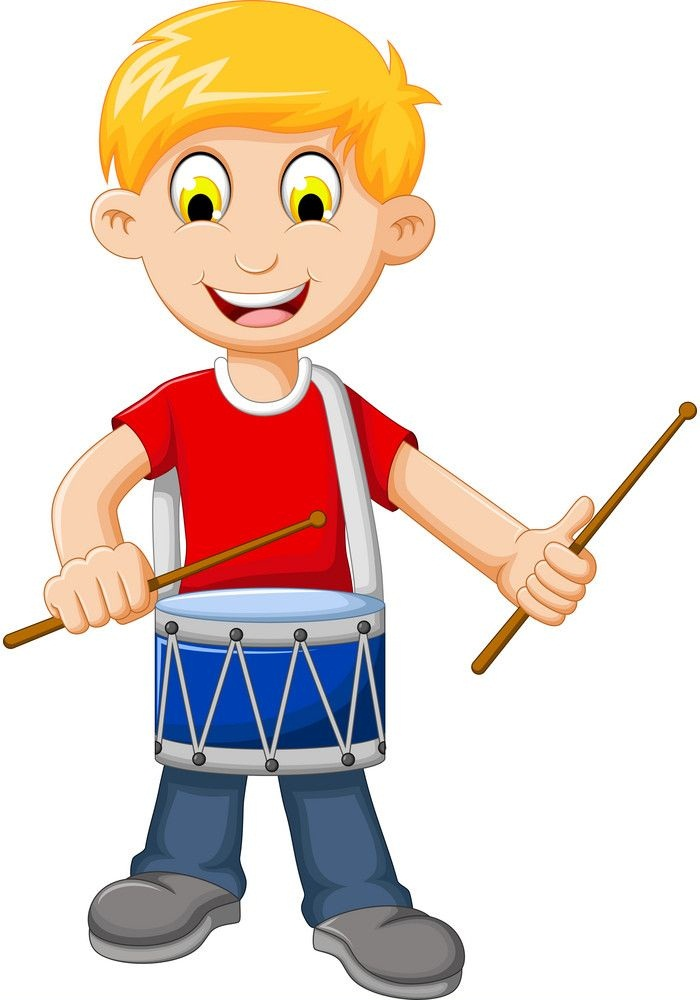 red shirt boy with drum