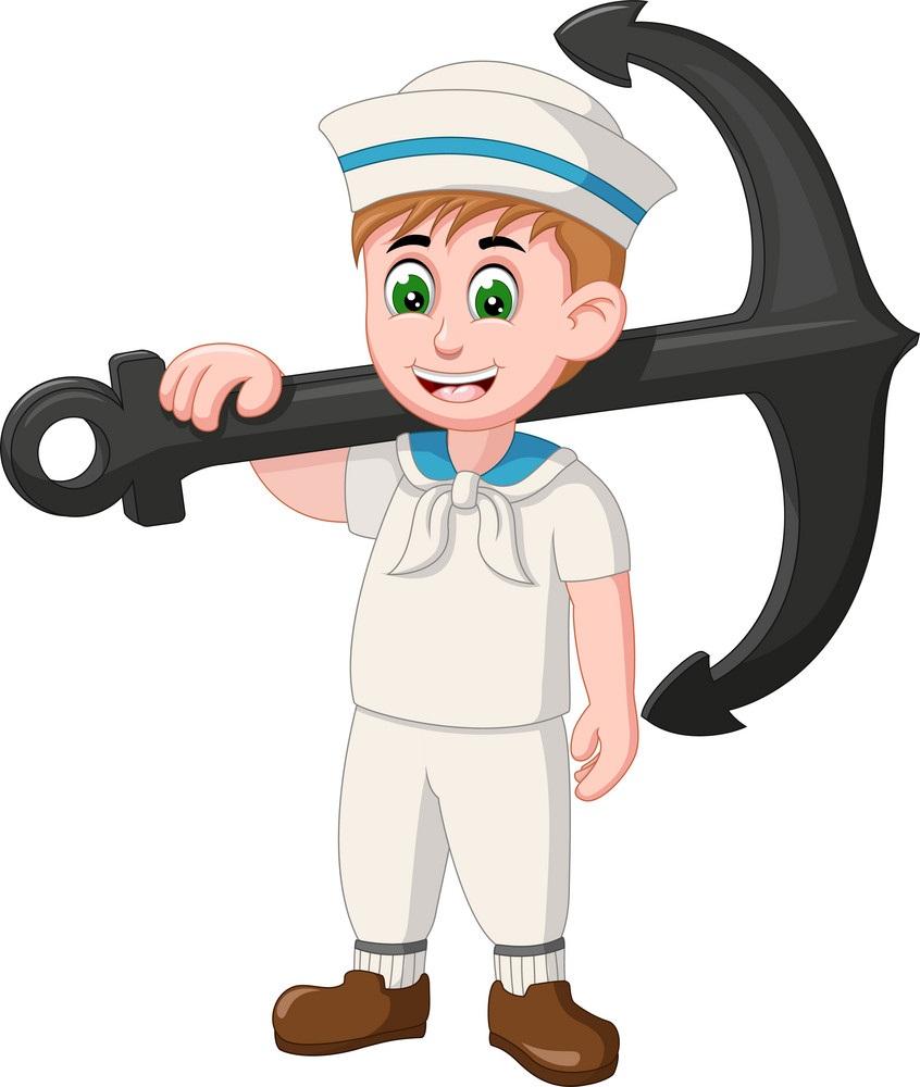 sailor boy with big anchor