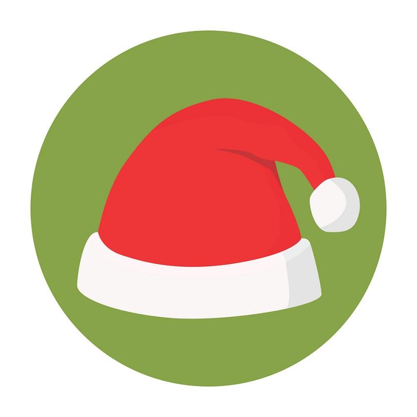 santa hat logo