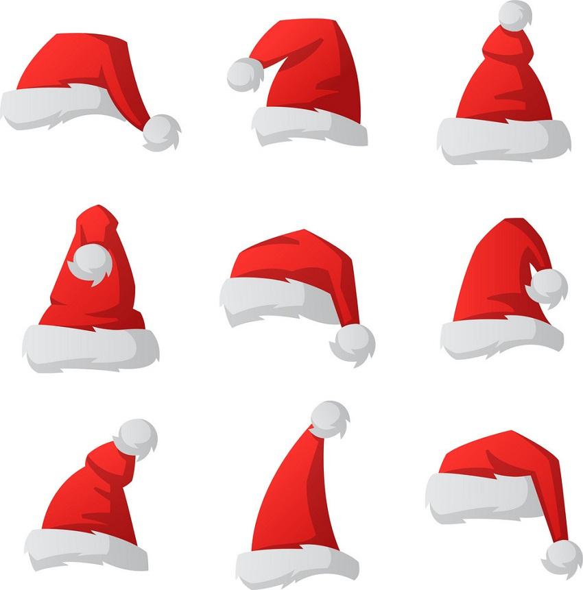 set of santa hats