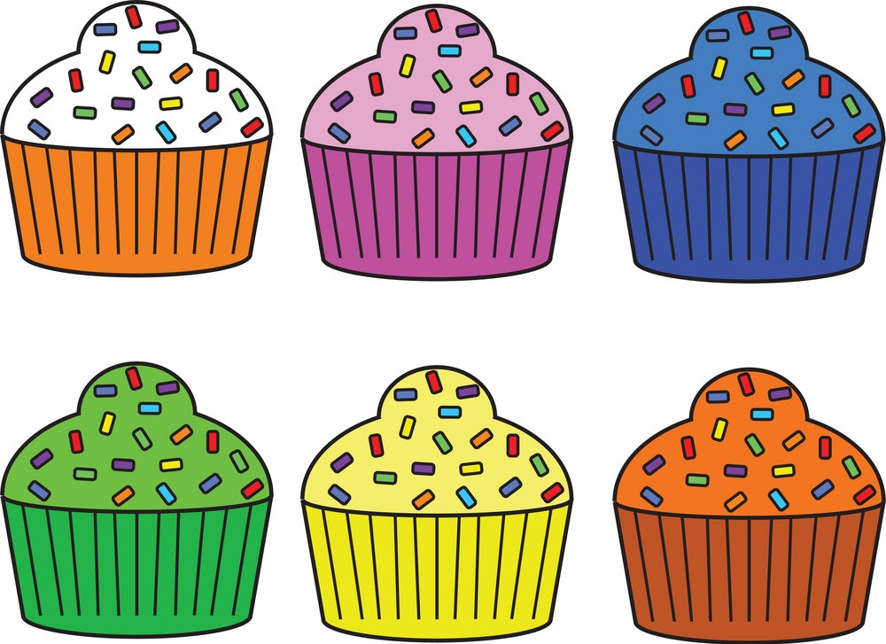 set of six muffins