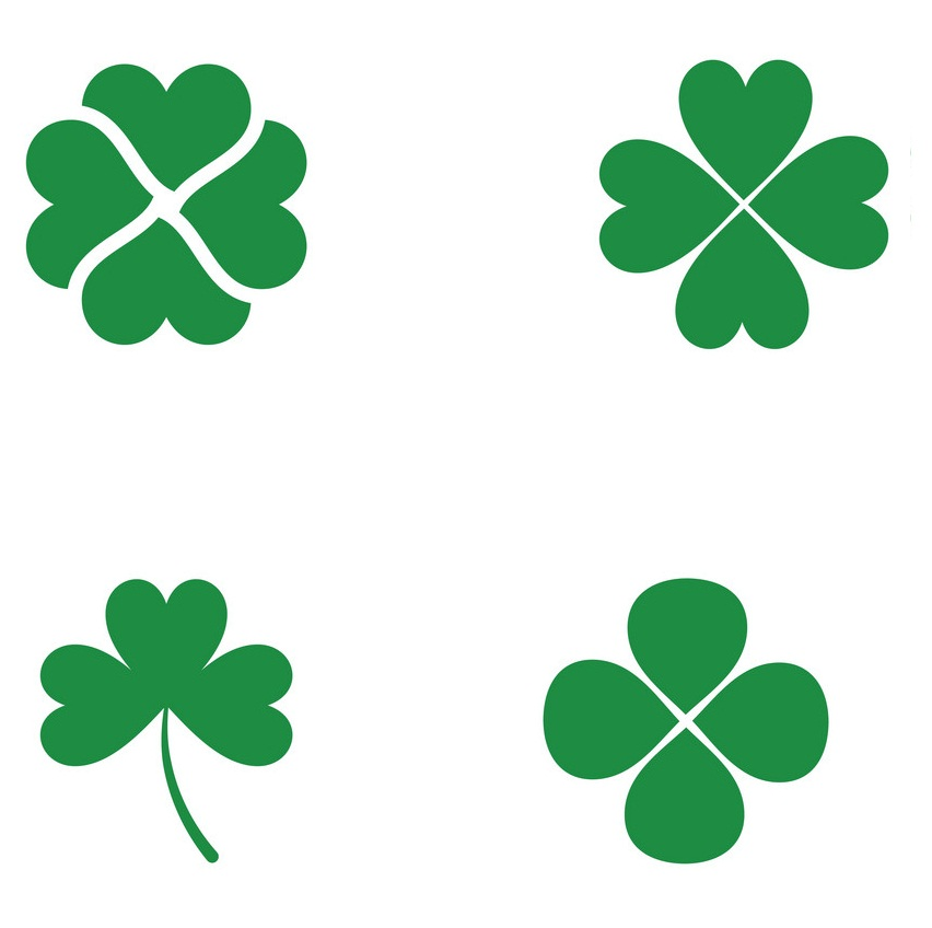 shamrock icon template