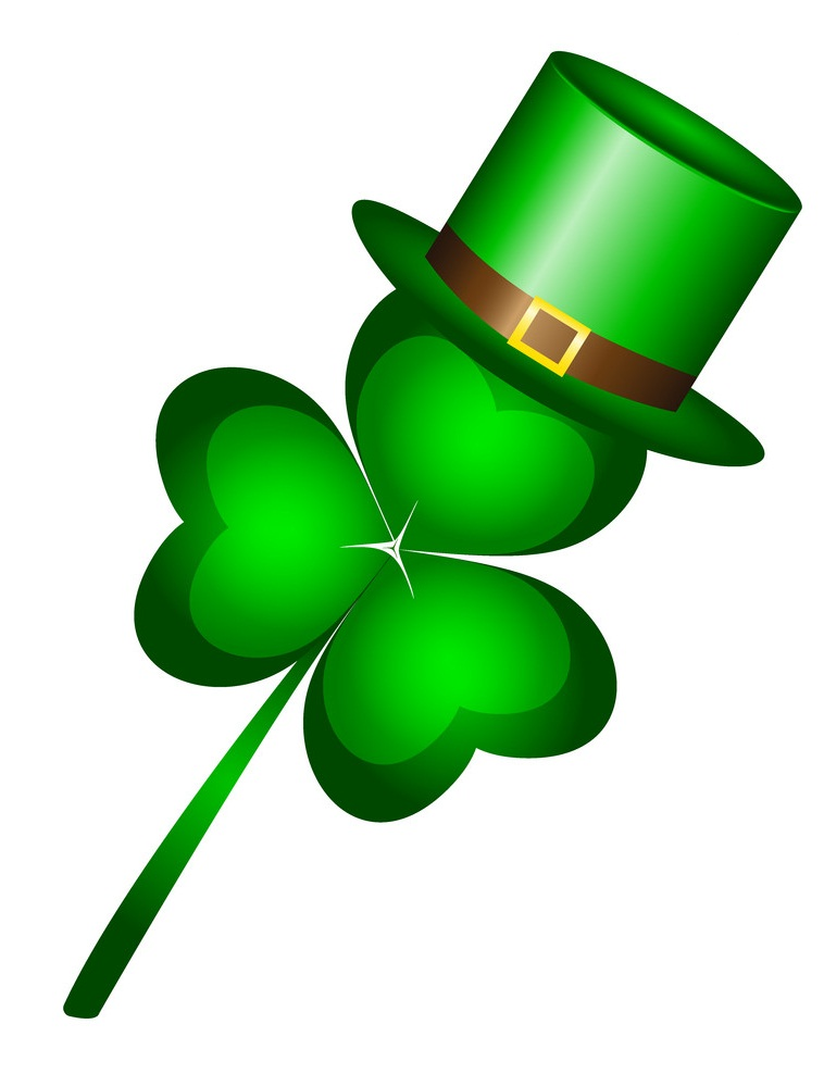 shamrock with a hat