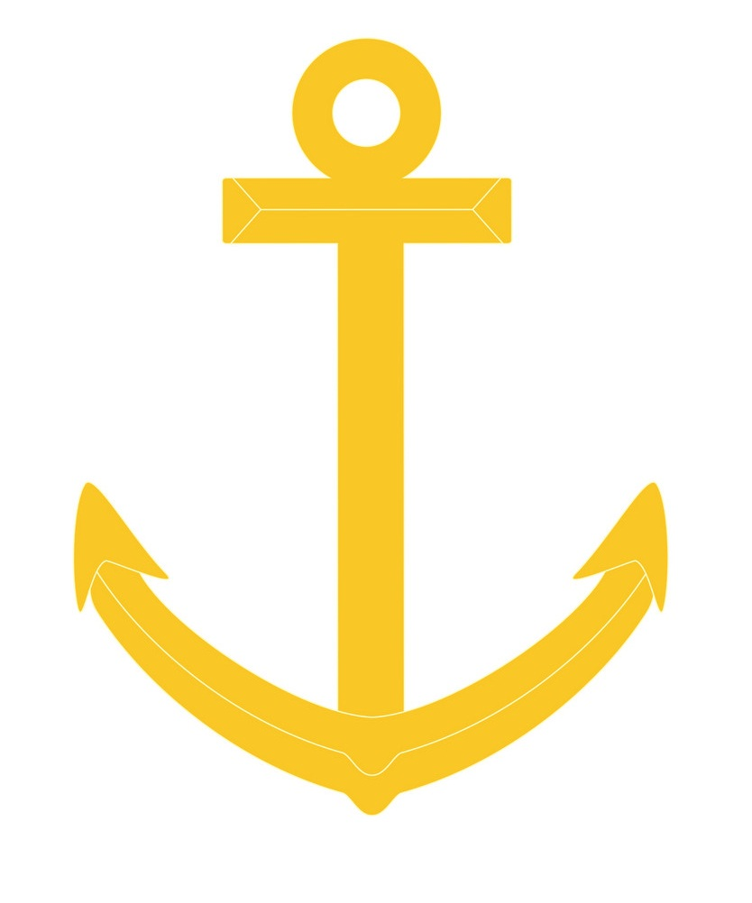 simple gold anchor