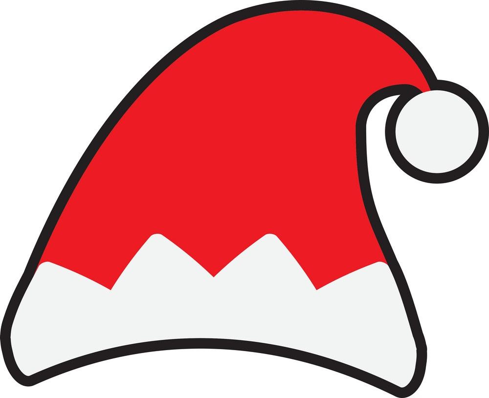 simple santa hat icon