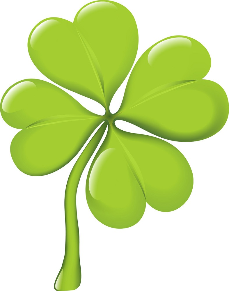 single four leaf shamrock