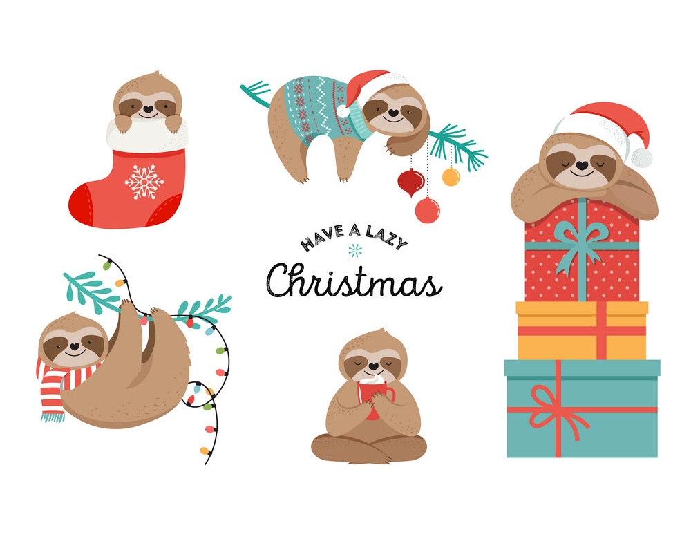 sloths have a lazy christmas
